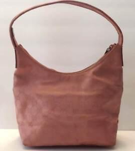 9cd97841510 Vintage Gucci Signature Canvas Leather GG Logo Hobo Shoulder Handbag ...