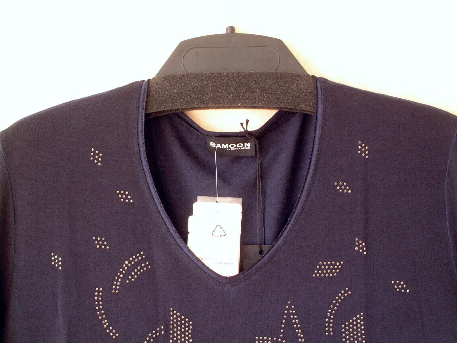 Samoon Shirt Shirt Shirt Gerry Weber kurzarm Viskose Stretch Damenshirt Neu dunkelblau Gr. | Verkauf  | Ästhetisches Aussehen  9ea8c4