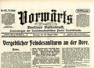 2019 DernièRe Conception En Avant (18. Août 1918): Diplomatique Ennemi Attaque à L'avre-afficher Le Titre D'origine Pour Convenir à La Commodité Des Gens