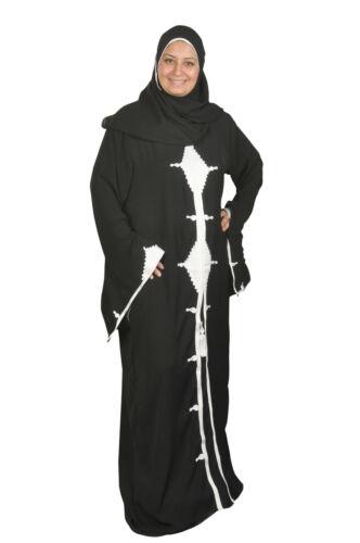 Dubai Abaya im Islamischen Stil Festkleid mit eingenähten Schleier ABY00122