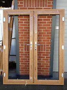 Irish oak upvc french doors irish oak irish oak on white made to measure ebay for French doors exterior upvc made to measure