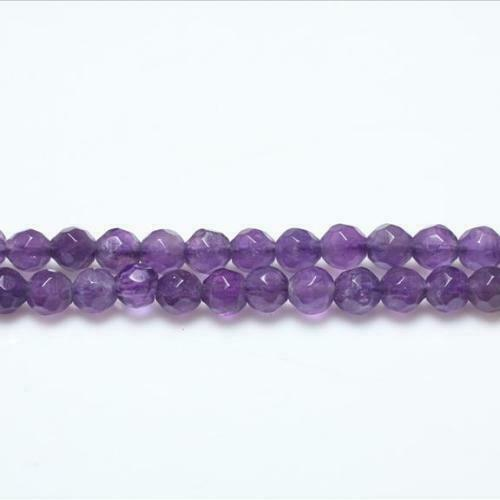 Pcs Gemstones DIY Jewellery Making Amethyst Faceted Round Beads 4mm Purple 95