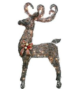 image is loading 48 034 glittering grapevine buck lighted reindeer outdoor