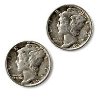 Mercury Dime Coin Cufflinks - Men's Jewelry - Handmade - Gift Box