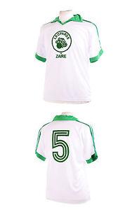 bb8a65a4eff zaire leopards white 1974 world cup number 5 football shirt xxl