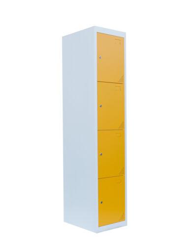 567412 180 x 38 x 50 cm Stahl-Fächerschrank Schließfachschrank Spind 4 Fächer