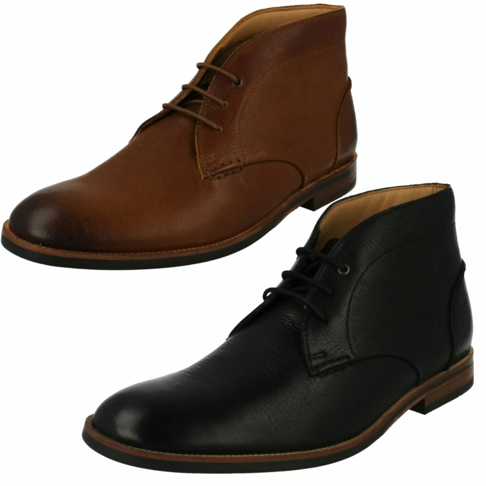 Mens Clarks Smart Lace Up Ankle Boots 'Broyd Mid'