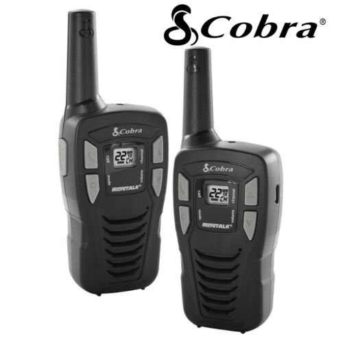 2 Pack Cobra 16 Mile Range FRS Two Way Radio Walkie Talkie Set NOAA CX112