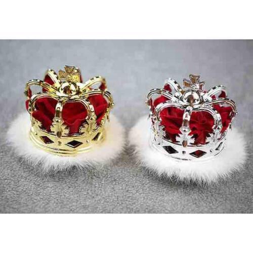 Mini Queen Crown Tiara Hat Costume Headwear Party Accessories Gold Silver