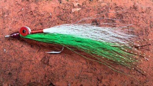 Clouser Deep Minnow Brown /& Green Fly Fishing Flies Trout, Redfish, Bass 6