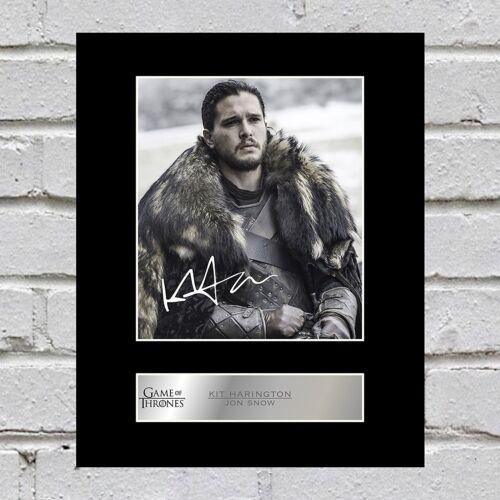 Game of Thrones Kit Harington Signed Mounted Photo Display Jon Snow