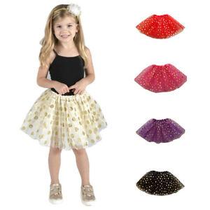 7d059bd4bc QA  Girls Kids Tutu Party Ballet Dance Wear Dress Skirt Pettiskirt ...
