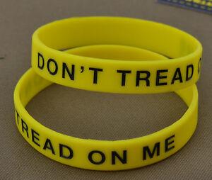 Rubber-Bracelet-Bracelet-034-Don-039-T-Tread-On-Me-Yellow-034