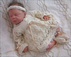 8080af190 Baby Knitting Pattern 9 TO KNIT Niamh Girls Christening Dress ...