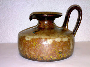 Vase-Kanne-KUBICEK-157-10-WGP-Mid-Century-60s-70s-Studio-Keramik-Pottery-H-10-cm