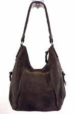 Tignanello Hobo Handbag Shoulder Bag Purse Gray Leather Suede Medium