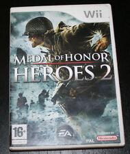 JUEGO DE NINTENDO WII, MEDAL OF HONOR HEROES 2, CON MANUALES