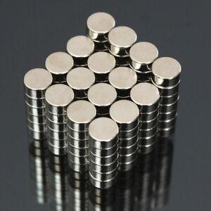 100-Stueck-6x3mm-N50-Super-Stark-Rund-Scheibenfoermig-Bloecke-Seltenerd-Neodym