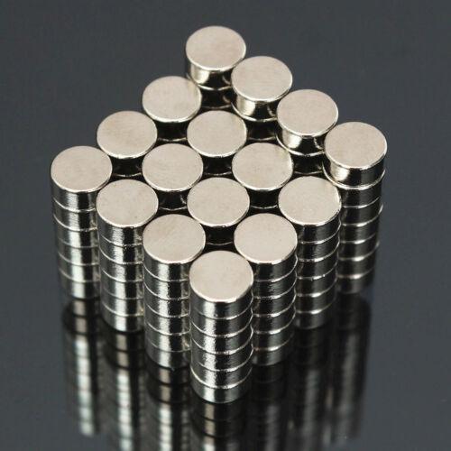 100 Stück 6x3mm N50 Super Stark Rund Scheibenförmig Blöcke Seltenerd Neodym