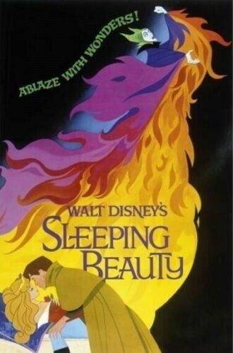 SLEEPING BEAUTY ~ CLASSIC 24x36 ONE SHEET MOVIE POSTER Malificent Disney