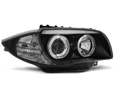 Shop Import Paire de Feux phares M76 Serie 3 E90//E91 05-08 Angel Eyes Noir