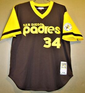 super popular a716e cba18 Details about 1978 SAN DIEGO PADRES ROLLIE FINGERS MITCHELL & NESS Baseball  #34 JERSEY