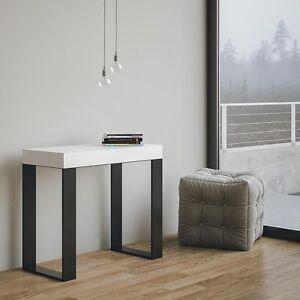 Tavolo consolle allungabile tecno salotto soggiorno cucina for Soggiorno cucina moderno
