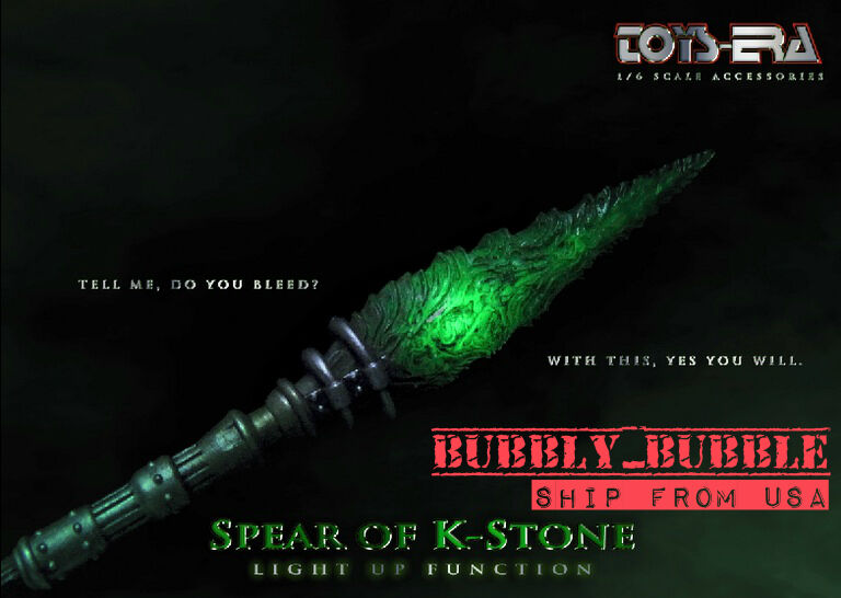 1/6 Grün Kryptonite Spear LED Light For Superhero Hot Toys Figure SHIP FROM USA