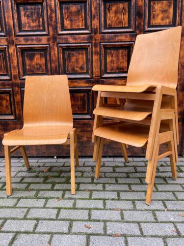 1/40 Stapelstuhl Vollholz Stacking Chair Cafe Bar Seminarraum