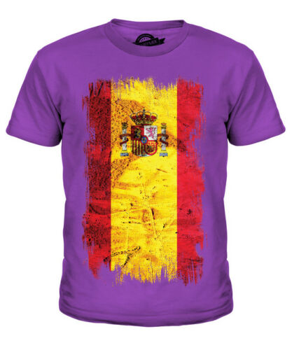 SPAGNA Bandiera Grunge Bambini T-Shirt Tee Top España Spagna Spagnolo espanya espanha