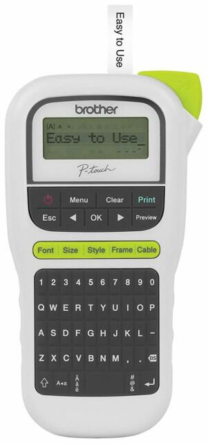 Brother PT-H110 Easy Portable Hand Held Label Maker Lightweight, QWERTY Keyboard