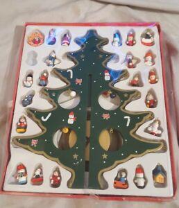 Kurt Adler Wooden Christmas Tree With 23 Wooden Ornaments Kurt S Adler Ebay