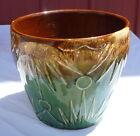 """Vintage 8"""" Roseville Ransbottom Pottery Sun & Moon Jardiniere Flower Pot 1400 #1"""