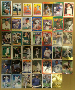 Roger-Clemens-LOT-of-55-insert-base-cards-NM-1989-1999-Boston-Redsox-Preferred