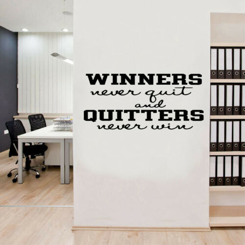 """Home Vinyl Wall Decal Stickers Inspirational Quotes /""""WINNER NEVER QUIT AND.../"""""""