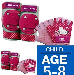 8a977e407 Bell Hello Kitty Kids Bike Accessory Pads/Gloves Protective Gear | eBay