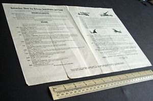 1950s-Vintage-Instruction-Sheet-Catalogue-for-Britain-039-s-Searchlights-amp-Guns