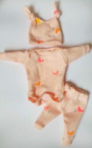 """7-8 /"""" OOAK Baby Doll Clothes Bodysuit Cap Pants Tiny OOAK baby"""