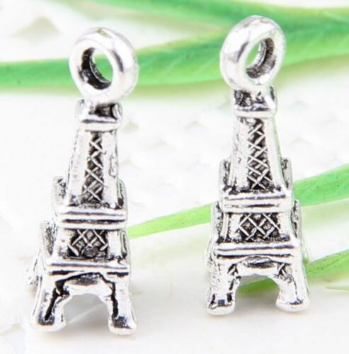 Wholesale 40//90Pcs Tibetan Silver(Lead-Free)Tower Charms Pendants 17x6mm