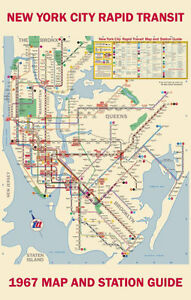 Ny York Subway Map.Details About 1967 New York Subway Map Poster 11x17