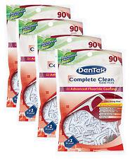 DenTek - Complete Clean Floss Picks - Fresh Mint - 90 per pack - set of 4 packs