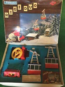 Lehmann-RIGI-DUO-9000-Seilbahn-Cable-Car-Spielzeug-Vintage-ovp