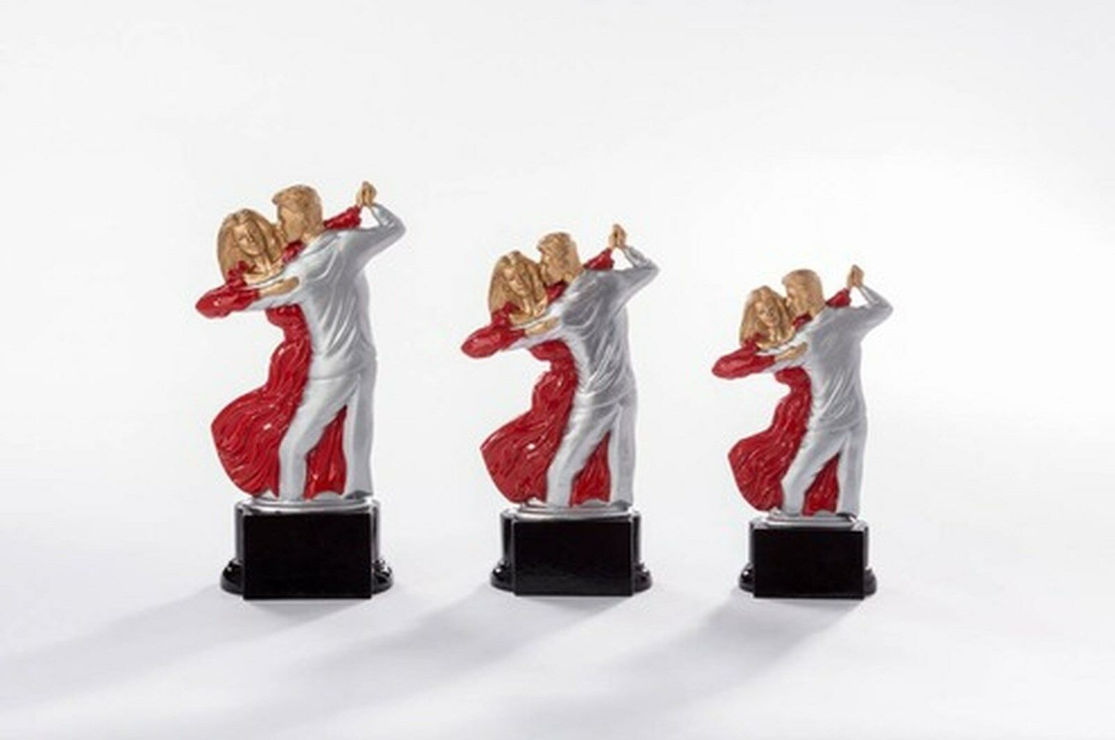 6 Figuren Tanzen 3er Serie aus Resin mit mit mit Gravur (Standard Turnier Pokale Pokal) 9e0e09