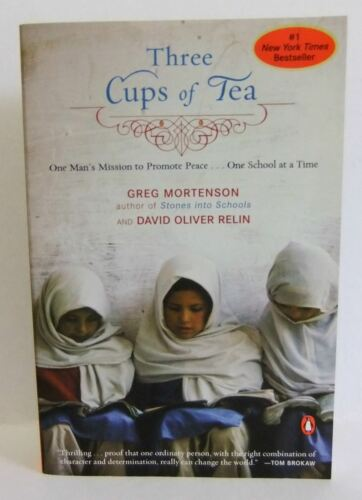 1 of 1 - Three Cups of Tea Greg Mortenson David Oliver Relin Biography book Taliban 2007