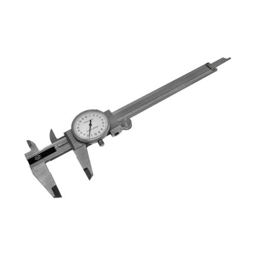150mm Precision Stainless Steel Metric Dial Caliper 0.02mm Graduation Shockproof