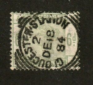 Great Britain stamp #105, used, 1883-84,SOTN Gloucester Station cxl, SCV $240
