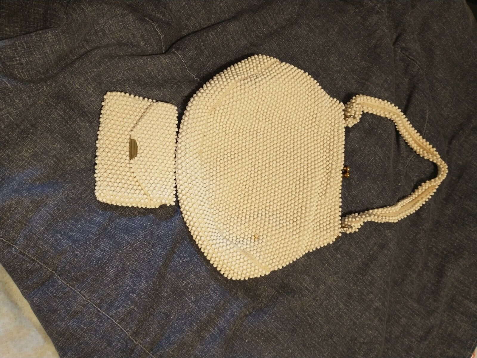 antique Ivory beaded purse. good condition