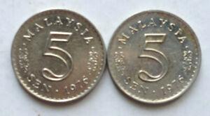 Parliament-Series-5-sen-coin-1976-2-pcs