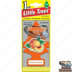Little Trees Peachy Peach Scent 1pc Car Mirror Hanging Air Freshener Home Office