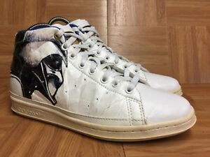 adidas (adidas) x STAR WARS STAN SMITH 80 s MID DARTH VADER Darth Vader black and white blue Size29.0cm thrift good
